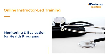 Training on Monitoring and Evaluation for Health Programs tickets