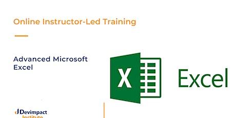 Training on Advanced Microsoft Excel tickets