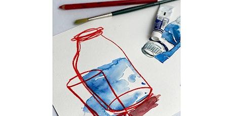 Online-Workshop I Aquarell & Zeichnung I Für Erwachsene ab 16 J. Tickets