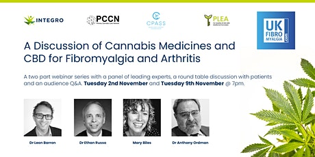 A discussion of Cannabis Medicines for Fibromyalgia and Arthritis Part 2 tickets