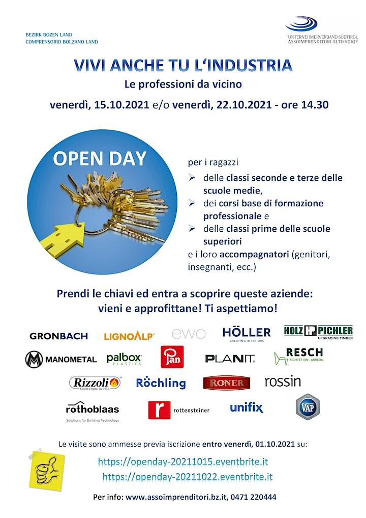 Immagine Open Day Bozen Land/Bolzano Land - 15.10.2021 (ore 14.30 Uhr)