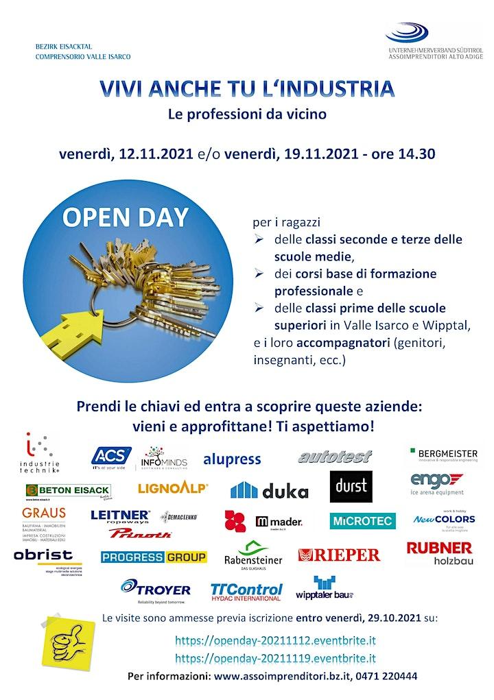 Open Day Eisacktal Valle Isarco/Wipptal -   12.11.2021 (ore 14.30 Uhr): Bild