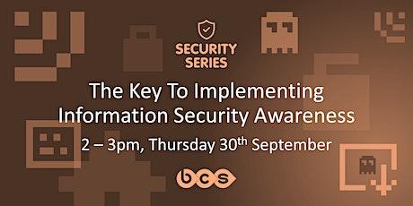 Security Webinar - Information Security Awareness tickets