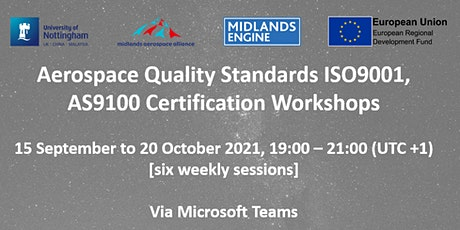 Aerospace Quality Standards ISO9001, AS9100 Certification Workshops tickets