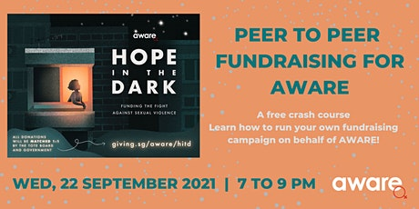 Peer to Peer Fundraising for AWARE tickets