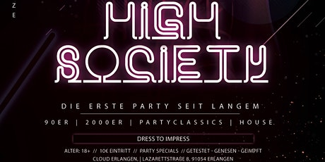 HIGH SOCIETY | BACK 2 PARTY Tickets