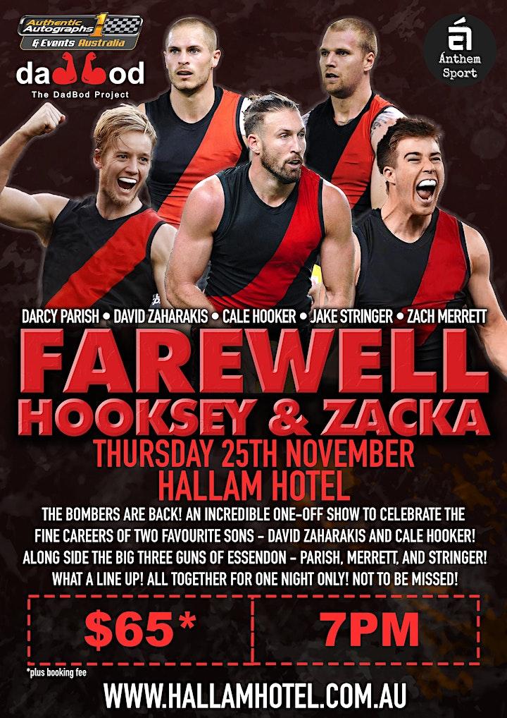 Farewell 2 bombers greats - David Zaharakis and Cale Hooker @Hallam Hotel! image