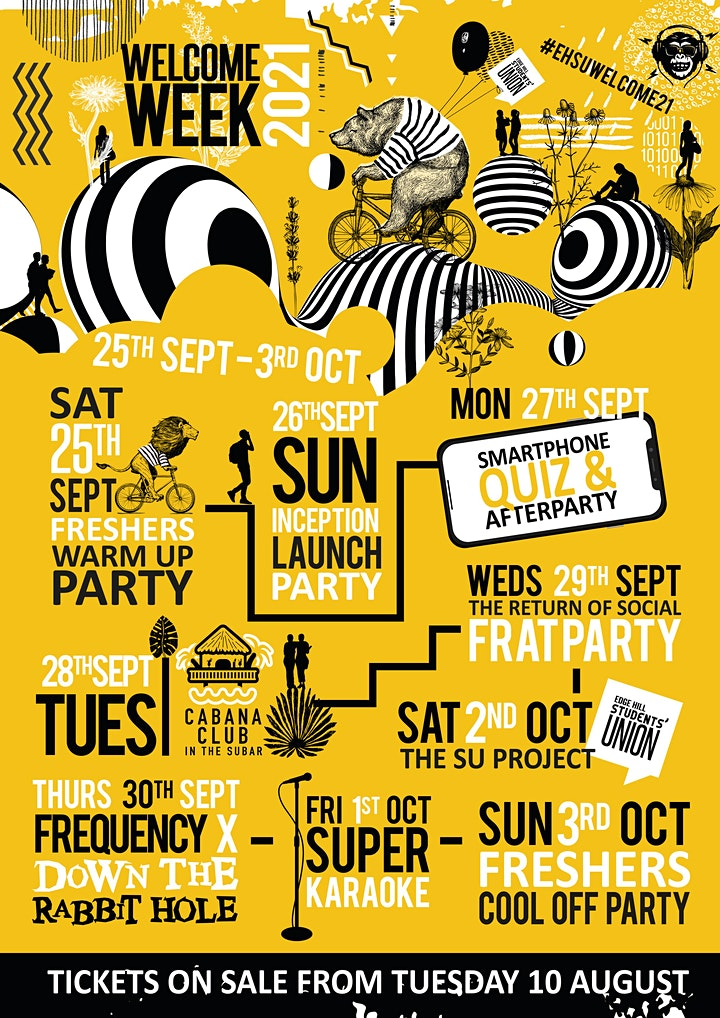 Edge Hill Welcome Week - Freshers Warm Up Party image