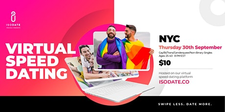 Isodate's NYC GBTQ+ Virtual Speed Dating Event: Swipe Less, Date More tickets