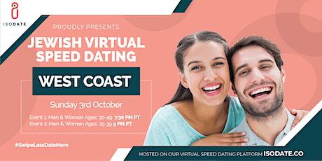 Isodate's West Coast Jewish Virtual Speed Dating tickets