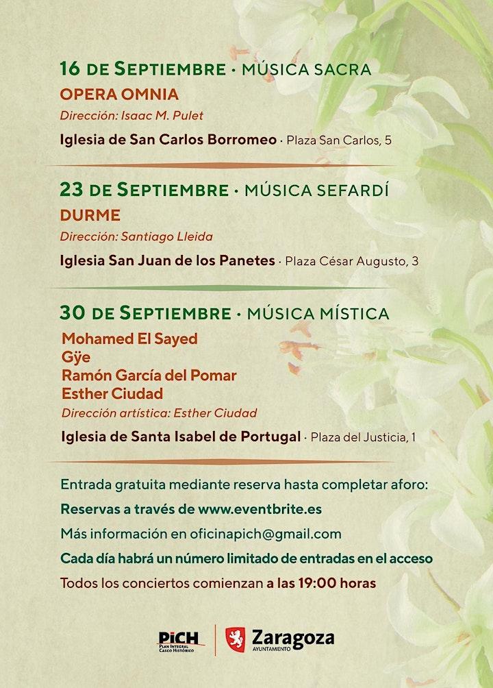 Imagen de II Festival Música Antigua Zaragoza 2021 MÚSICA TRES CULTURAS  (SEFARDÍ)