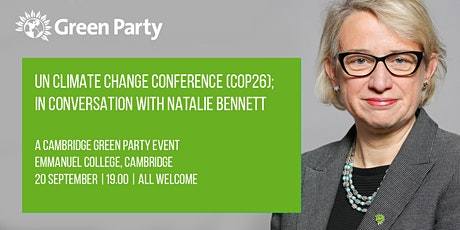 UN Climate Change  Conference (COP26); In Discussion with Natalie Bennett tickets