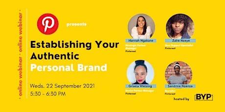 Pinterest Presents…. Establishing Your Authentic Personal Brand tickets