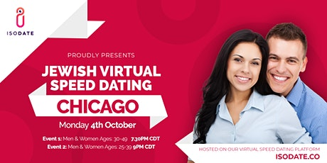 Isodate's Chicago Jewish Virtual Speed Dating tickets