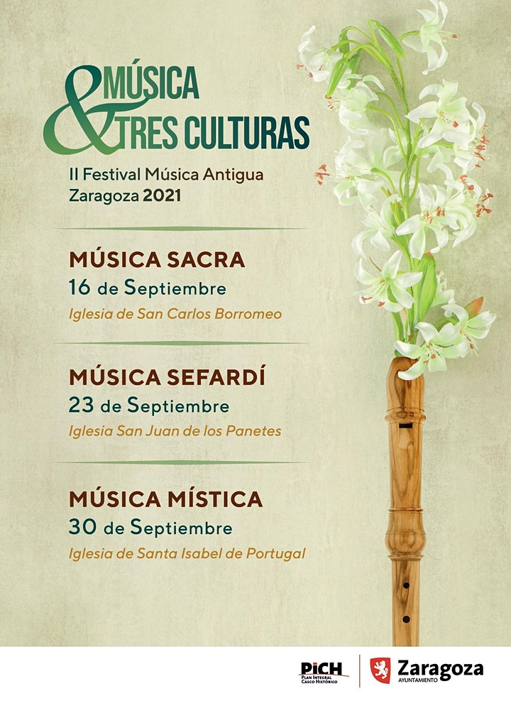 Imagen de IIFestival Música Antigua zaragoza 2021 MÚSICA TRES CULTURAS MÚSICA MÍSTICA