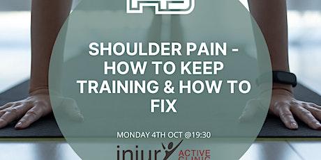 Injury Active Workshop 4 Oct tickets