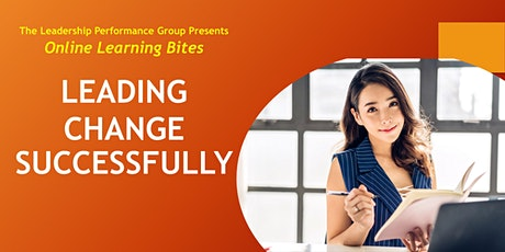 Leading Change Successfully (Online - Run 13) tickets
