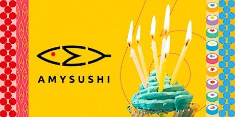 Buon Compleanno Amy Sushi Magenta! biglietti
