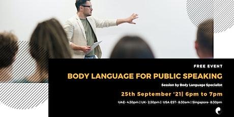 Body Language for Public Speaking - Online tickets