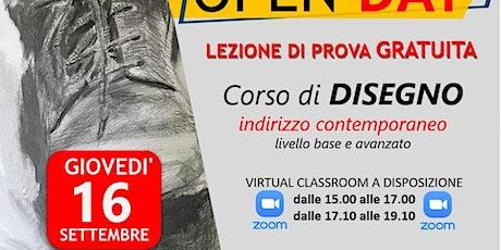 OPEN DAY GRATUITO CORSO DISEGNO ONLINE biglietti