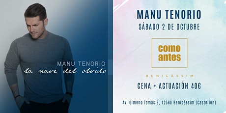 Manu Tenorio | Cena + Actuación entradas