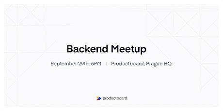 Backend Meetup PRG tickets