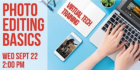 Virtual Tech Training: Photo Editing Basics tickets