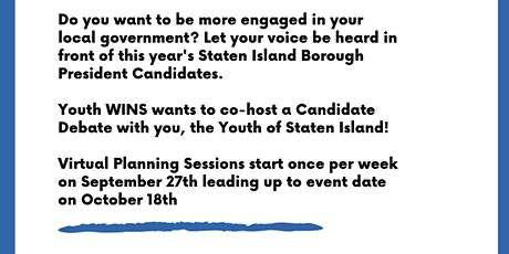 Youth WINS: Youth Candidate Forum  Planning Sessions tickets