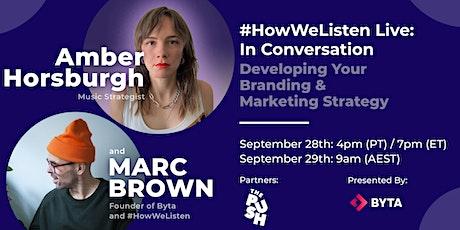 #HowWeListen Live: In Conversation with Amber Horsburgh tickets