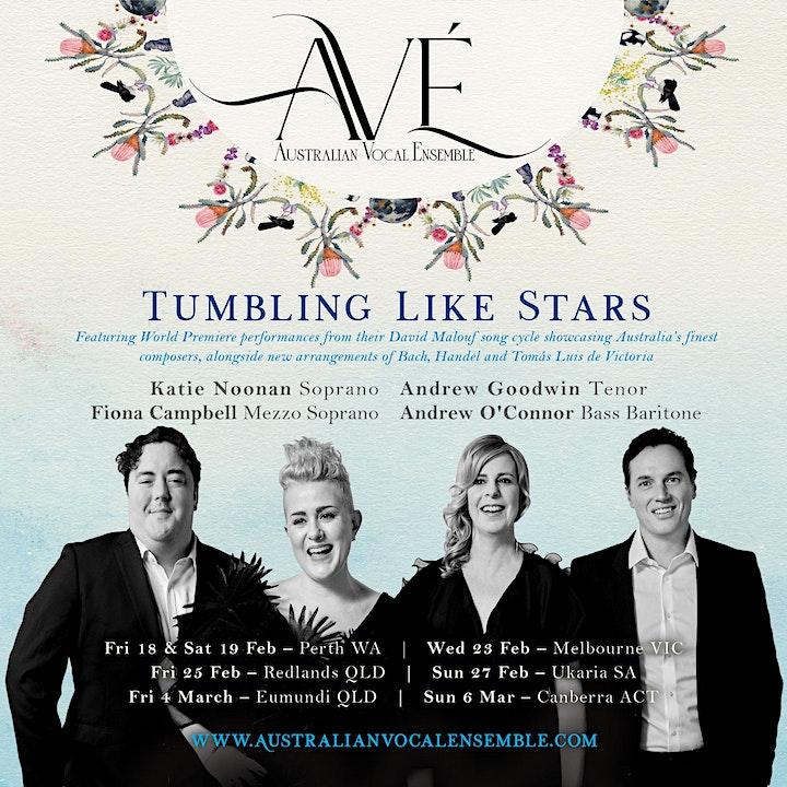 AVÉ AUSTRALIAN VOCAL ENSEMBLE 'TUMBLING LIKE STARS' CONCERT image