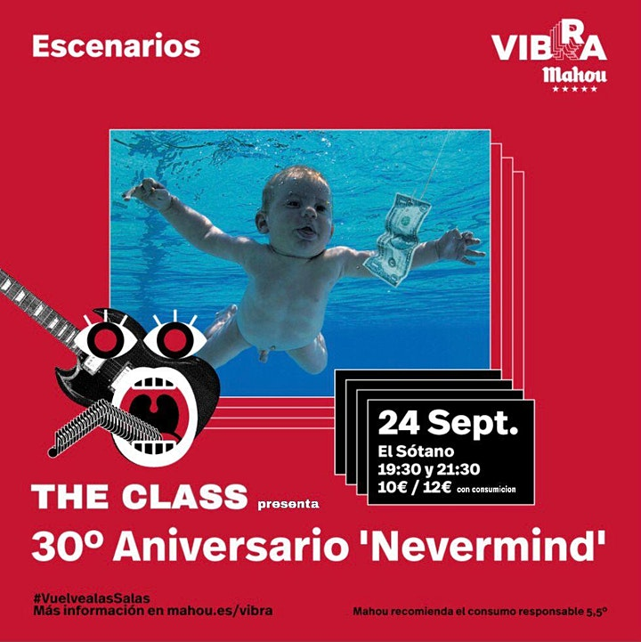 Imagen de 1er Pase THE CLASS – Fiesta Karaoke 30 Aniversario Nevermind de Nirvana