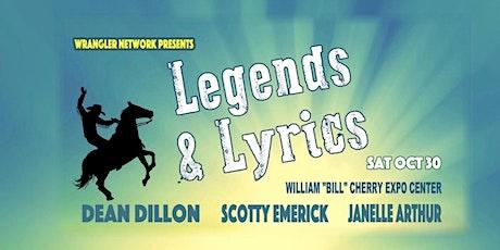 Wrangler Network presents Legends and Lyrics tickets