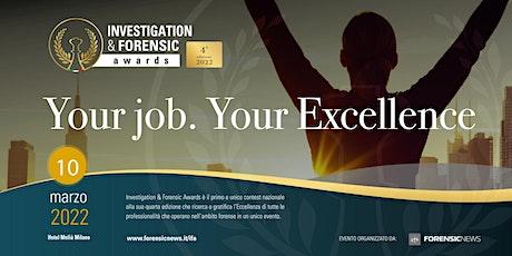 Investigation & Forensic Awards 2022 - Cena di gala biglietti