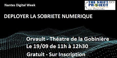 Conférence Sobriété Numérique - Théatre de la Gobiniere billets
