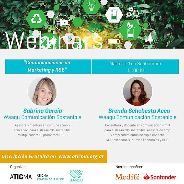 """Imagen de """"Comunicaciones de Marketing y RSE""""  - Webinar ATICMA"""