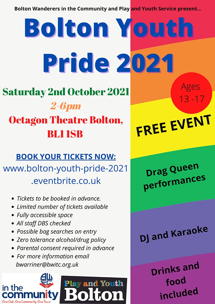 Bolton Youth Pride 2021 image