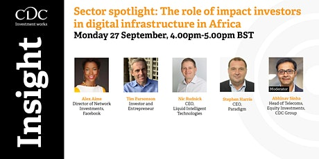 The role of impact investors in digital infrastructure in Africa tickets