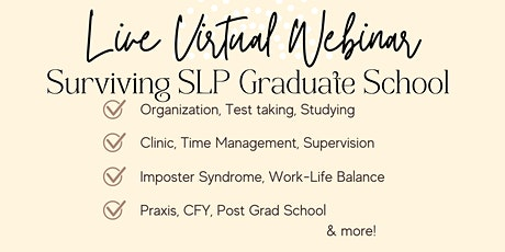 Surviving SLP Grad School tickets