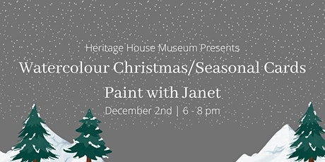 Watercolour Christmas or Seasonal Cards - Paint with Janet tickets