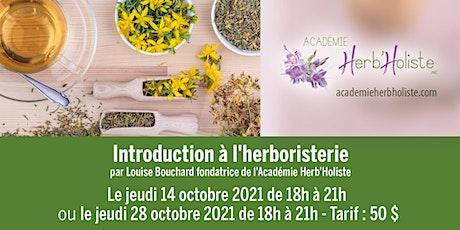 Introduction à l'herboristerie billets