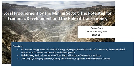 Local Procurement by the Mining Sector tickets