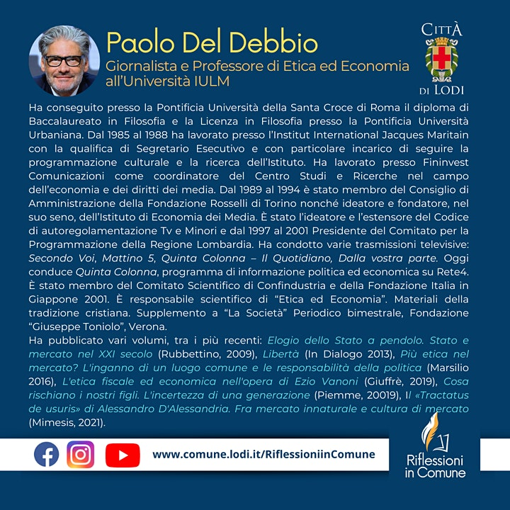 Immagine L'ETICA ECONOMICA DEI DIRITTI - di Paolo Del Debbio