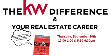 The KW Difference & Your Real Estate Career tickets