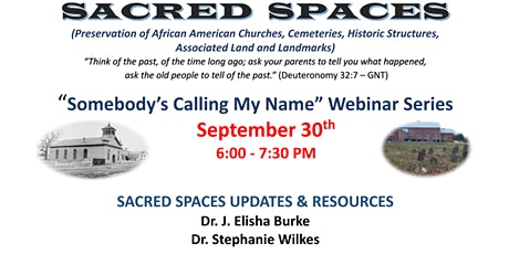 "SACRED  SPACES: ""Somebody's Calling My Name"" Webinar Series biljetter"