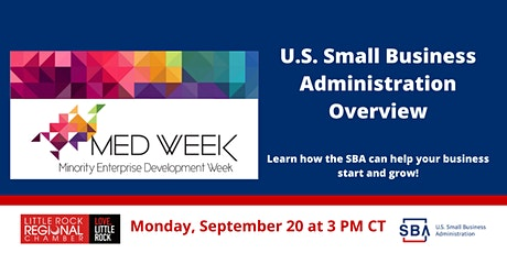 U.S. Small Business Administration Overview- Monday, Sept. 20th at 3 PM CT tickets