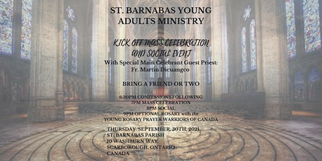St. Barnabas Young Adults - 2021- Kickoff Event tickets