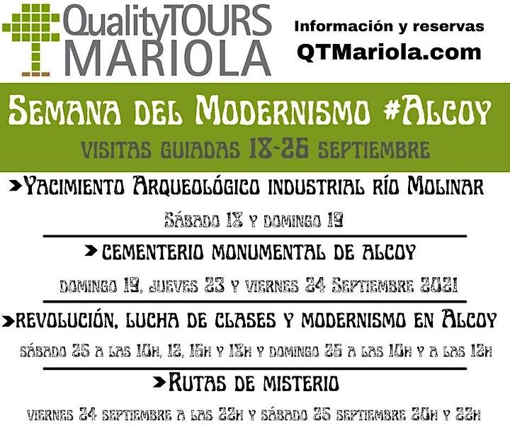 Imagen de Rutas de misterio en Alcoy. Sábado 25 Semana Modernismo 2021