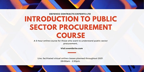 Introduction to Public Sector Procurement tickets