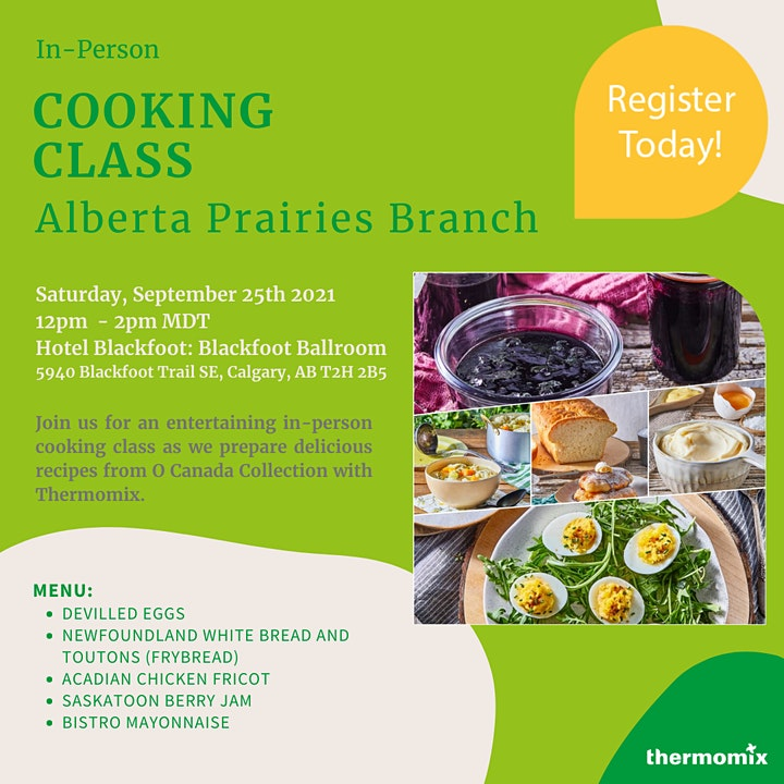 Thermomix®  In-Person Cooking Class: O Canada image