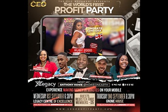 PROFIT PARTY - Money in Minutes LIVE EXPERIENCE - London tickets